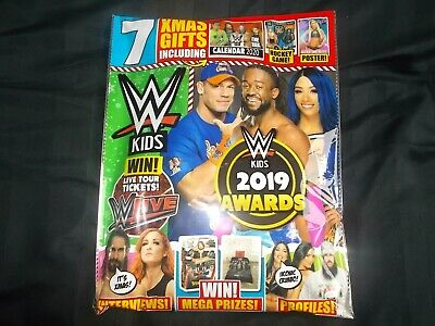 WWE Kids Magazine Issue #155 December 2019 Christmas Issue Awards Gifts Calendar
