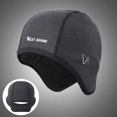 WEST BIKING Winter Fleece Cap Warm Helmet Hat for Outdoor Cycling Running #VIC