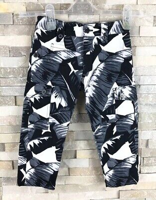 New Dolce And Gabbana Girls Age 3 Years Floral Jeans Cargo Trousers D&G Tropical