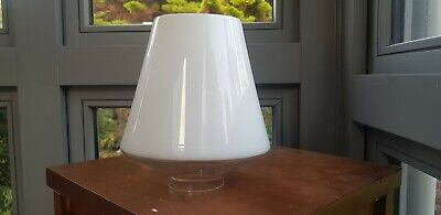 Original Antique Paris Opal Cased Oil Lamp Shade 2.5 inch fitter wide base