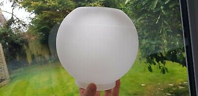 Original Vintage Antique Glass Oil Lamp Shade frosted ball globe 4 inches fit