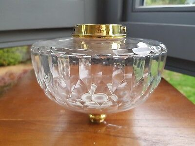 Victorian Heavy Hinks Facet Cut Glass Oil Lamp Font bayonet collar 21mm fit A1