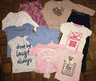 Girls Trouser Leggings Tshirt Tops  Bundle Size 8-9yrs 10pieces