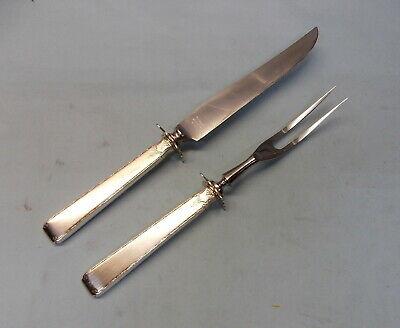 Old Lace Sterling Silver Carve Set-Knife & Fork-Elegant 1939 Towle-Table Ready