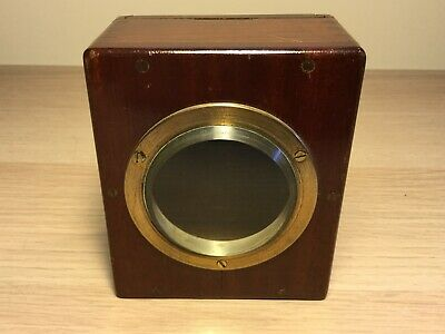 Empty Art Deco Mantel Carriage Clock Case  with Bevel Edge Glass Face    (MJ845)