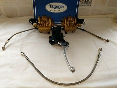 Triumph street triple 675 brake calipers master cylinder hoses front low mileage