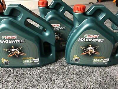 Castrol Magnatec 10W-40 Part-Synthetic Engine Oil ACEA A3/B4 4 Litres 4L x3