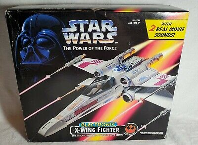 New Kenner Star Wars Power Of The Force Electronic X-Wing Fighter 1995