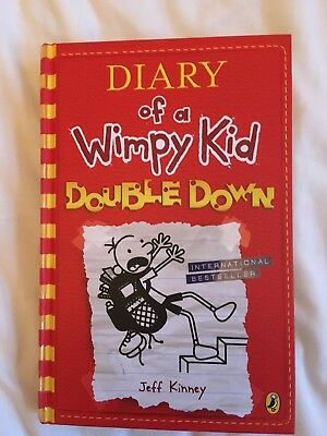 Signed Jeff Kinney first edition HB Diary of a Wimpy Kid: Double Down