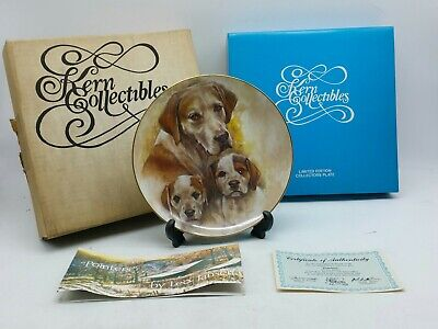 KERN POINTER DOG MY FAVORITE PETS SERIES 1983 LTD ED COLLECTOR PLATE e27