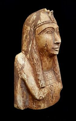 Queen Nefertari Ankh Bust Rare Egyptian Antiques King Rameses Revival Statue
