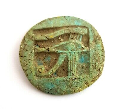 Wedjat Horus Eye Necklace Pendant Egyptian Ra Wedjet Udjat Egypt Faience Amulet