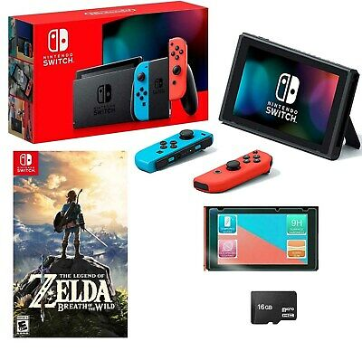 NEW Nintendo Switch Red MEGA Mario Bundle with 8 Games and Bonus Accessories