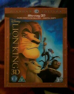 The Lion King 3D & 2D Bluray Diamond Edition Lenticular Slipcase PAL Disney
