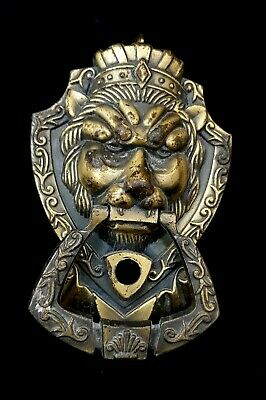 Vintage Door Knocker Lion Face Brass Handmade Head Lioness Shaped Antique Style