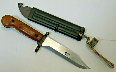 Romanian Bayonet AND East German wire cutting Scabbard. Unissued REAL Surplus