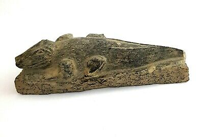 Rare amulet Sobek Egyptian God Statue Crocodile Nile Military Ancient stone art