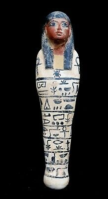 23Ushabti Egyptian Ancient Bc Faience Shabti Egypt Statue Antique Rare LimeStone
