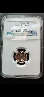 2013 1/10 Ounce  American Gold Eagle Early Release. NGC MS 70
