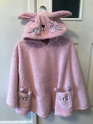 Gorgeous TU Girls Bunny Dressing Gown Poncho Age 12-13 Height 152-158cm