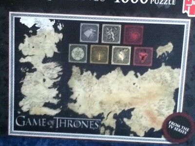 **Game of Thrones: Map of The Known World Jigsaw Puzzle (1000 Pieces)**