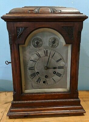 Gustav Becker Oak Mantle Clock with Westminster Chime - Spares + Repairs