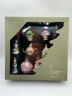 Seasons Of Cannon Falls THE BRIDE'S TREE Set 12 Hand Blown Christmas Ornaments