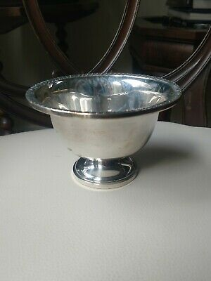 "Large Antique / Vintage Weighted Sterling Silver Compote (3 1/2"") Hunt Silver Co"