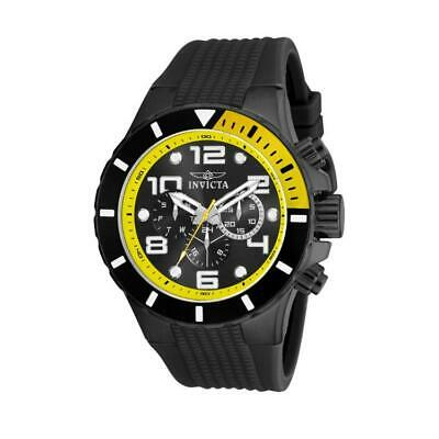 Invicta 18741 Men's Pro Diver Black Stainless Steel Plastic Chronograph Watch