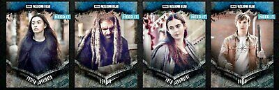 TWD STOIC WAVE 2 BLUE 4 CARD SET Topps WALKING DEAD DIGITAL CARD TRADER
