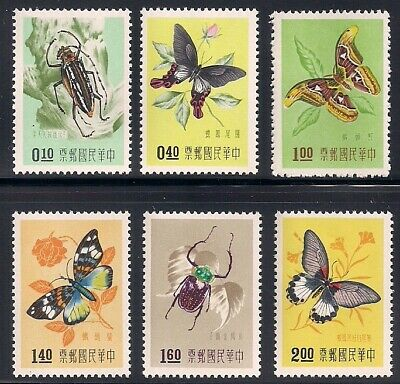 Taiwan  1958  Sc # 1183-88  Insects  MNH   (45405)