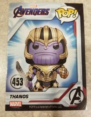 THANOS Funko Pop Marvel Avengers Endgame Collector Card #453