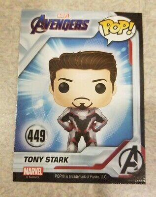 TONY STARK Funko Pop Marvel Avengers Endgame Collector Card #449