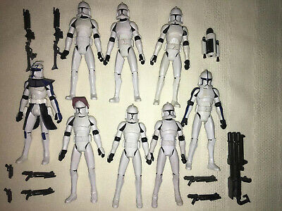 Star Wars TCW Clone Trooper lot Action Figures Captain Rex Denal Chopper Slick