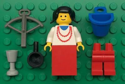 No Hat, just Hair Lego Vintage MAIDEN Castle Minifigure from 6067 6023 6060