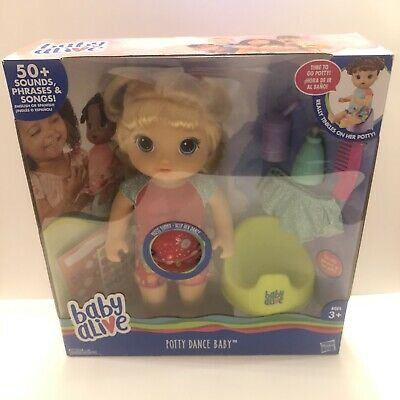 Baby Alive Doll Potty Dance Baby Blonde Hair New Free Shipping
