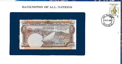Banknotes of All Nations Yemen PDR 1965 250 Fils P1b UNC sign 2