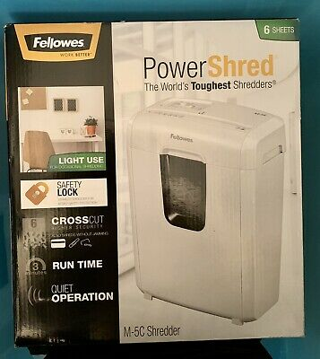 New paper shredder Fellowes cross-cut for greater security runs for 3 mins