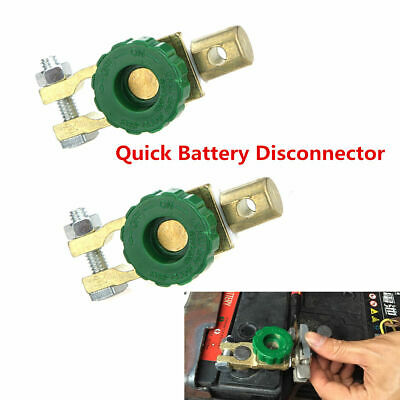 2x Car Battery Link Terminal Quick Cut-off Disconnect Master Kill Shut Switch