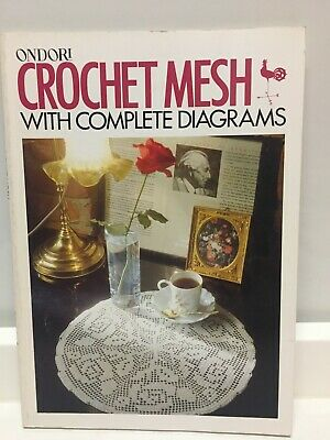 ONDORI CROCHET MESH  - Complete Diagrams Pattern Book -  Filet Crochet 144 pages
