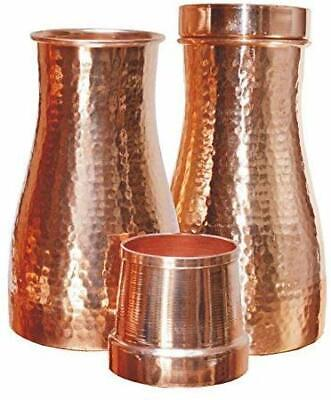 Bottle Jar with Pure Copper, 100% Leak Proof and Joint Free,Capacity 1 Litre