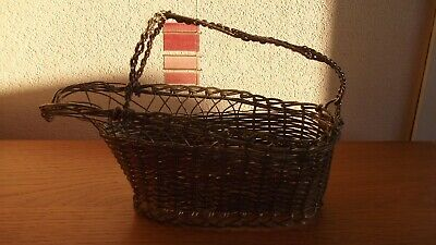 Antique Silver Plate Wire Wine Basket Lovely for the Festive Season / Present