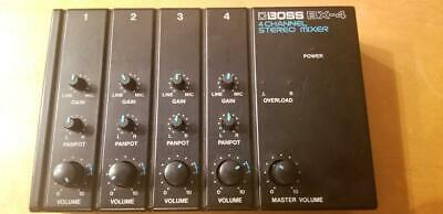 BOSS BX-4 4 channel Stereo Compact Mixer Normal Operation live studio mixers