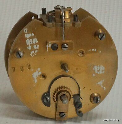 Small 19c Round French Timepiece Clock Movement