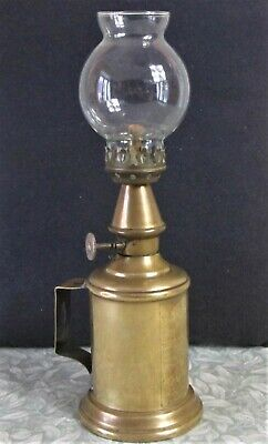 Antique French GENUINE c1900 LAMPE PIGEON BRASS OIL LAMP 10,000 Franc Guarantee