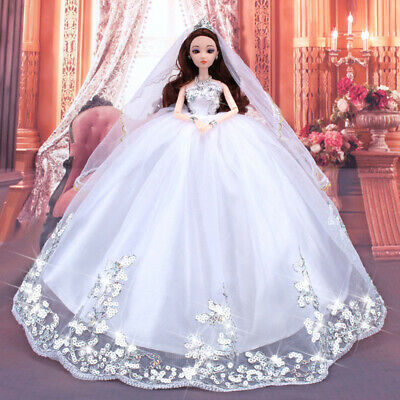 Wedding Party Dress Princess Clothes Handmade Outfit for 12 inch Barbie Doll