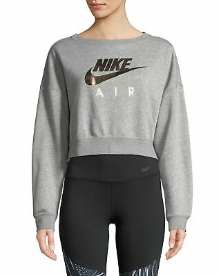 Shop den Nike Air Crop Crew Sweatshirt Damen in Weiss