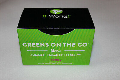 It Works Greens on the Go 30 Single Packets - New / Sealed - Berry