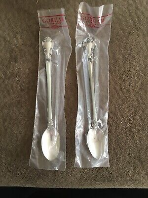 2 Gorham Chantilly Sterling Silver Tall Iced Tea Spoons In Original Packaging