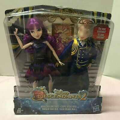 NEW Disney Descendants 2 Mal and Ben Dolls Royal Cotillion Couple NIP